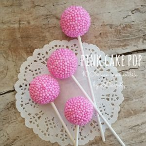 Pink Cake Pop