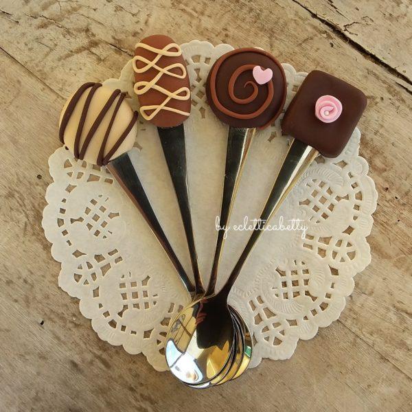 Set di 4 Cucchiaini Mood Choco