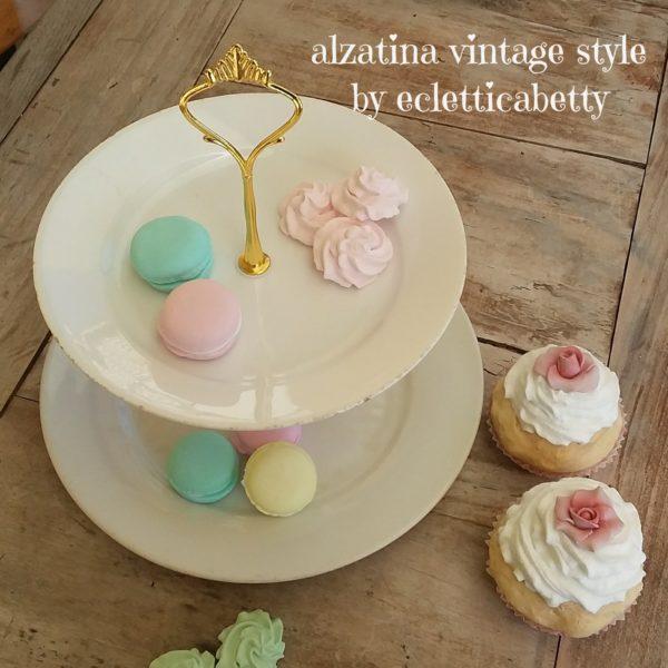Alzatina Total White Vintage