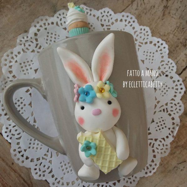 Tazzotta Coniglietto con Cucchiaino Cupcake