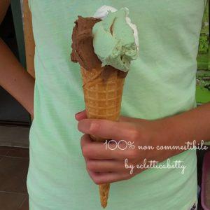 Maxi Cono gelato pistacchio, cioccolato e fiordilatte