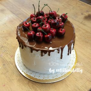 Cherry cake 19 cm base bianca