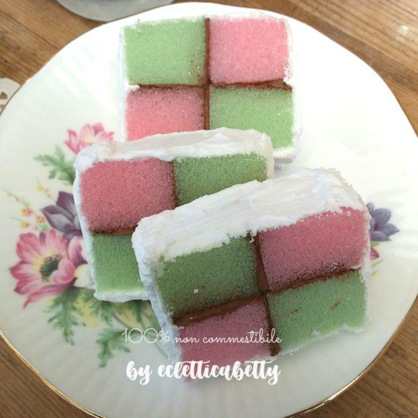 Battemberg cake 1 fetta