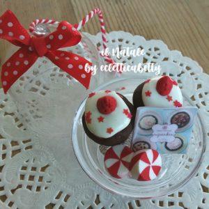 Alzatina da appendere con cupcakes cioccolato Ø 5 cm