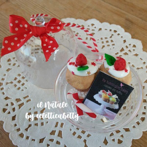 Alzatina da appendere con cupcakes vaniglia Ø 5 cm
