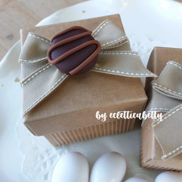 Scatolina avana con cioccolatino