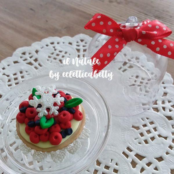 Alzatina da appendere con torta fruttata Ø 5 cm