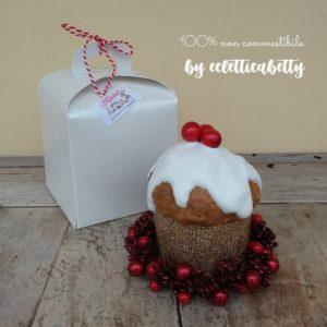 Piccolo Panettone glassato Ghirlanda e Confezione regalo