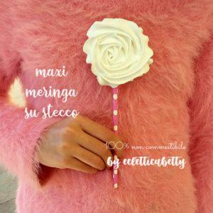 Maxi Meringa su stecco rosa