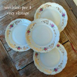 Set 4 piattini da dolce Delicati Vintage