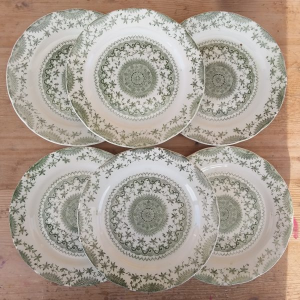 Set 6 piattini da dolce Green Vintage