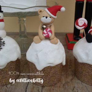 Piccolo Panettone glassato con Orso Natale