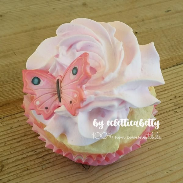Cupcake pink butterfly