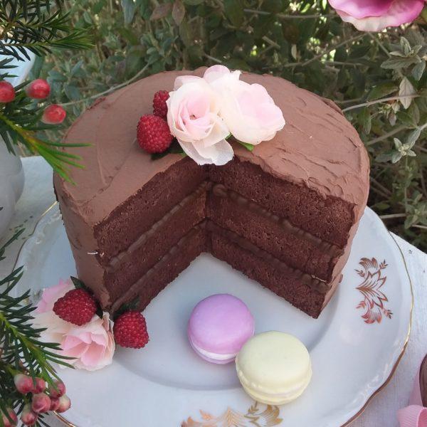 Torta Choco con fetta tagliata 15 cm