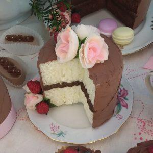 Tortina Choco con fetta tagliata 10 cm