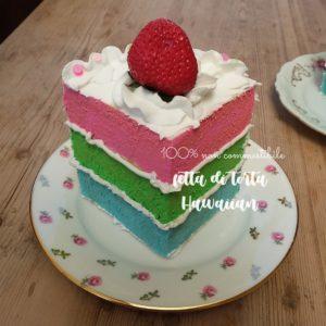 Fetta di torta Hawaiian